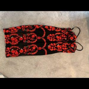 Sexy flower patterned dress